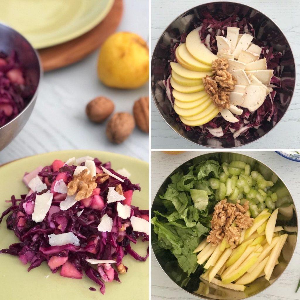 3 abbinamenti insalata di mele