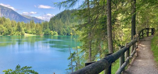 sentiero giro lago di tovel
