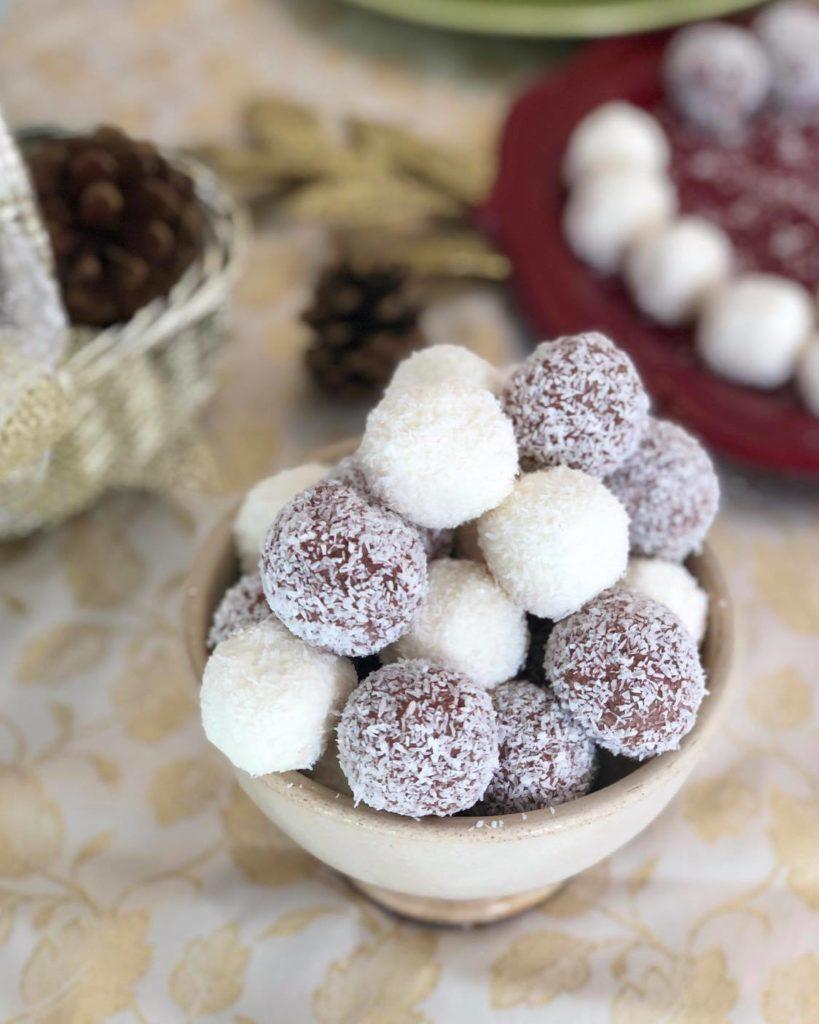 palline di cocco e ricotta