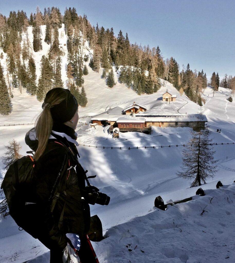 malga di romeno in inverno