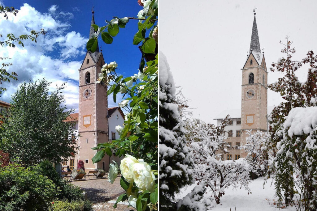 cavareno-paesi in val di non a confronto estate inverno