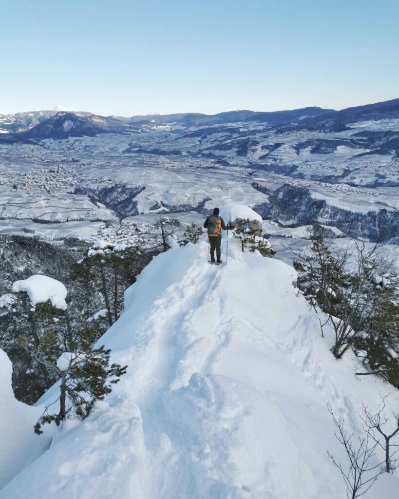 punti panoramici val di non inverno-crucola-favon
