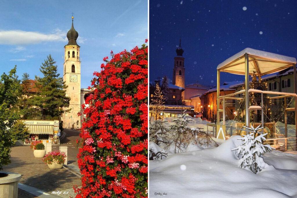 fondo-paesi in val di non a confronto estate inverno