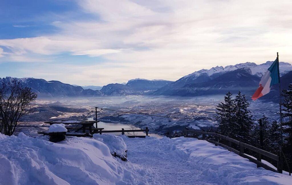 punti panoramici val di non inverno-monte ozol