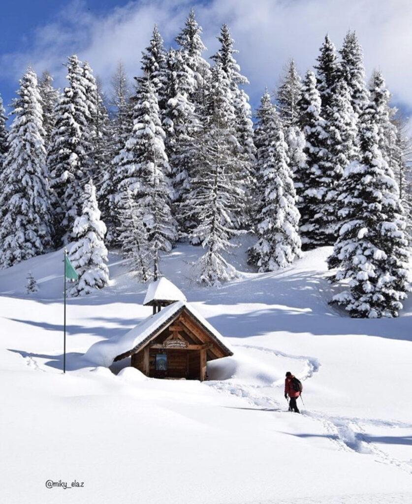 malghe in val di non inverno-pra di siori