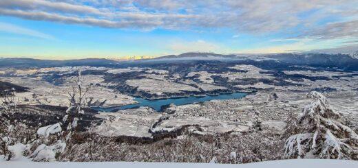 panoramica val di non inverno