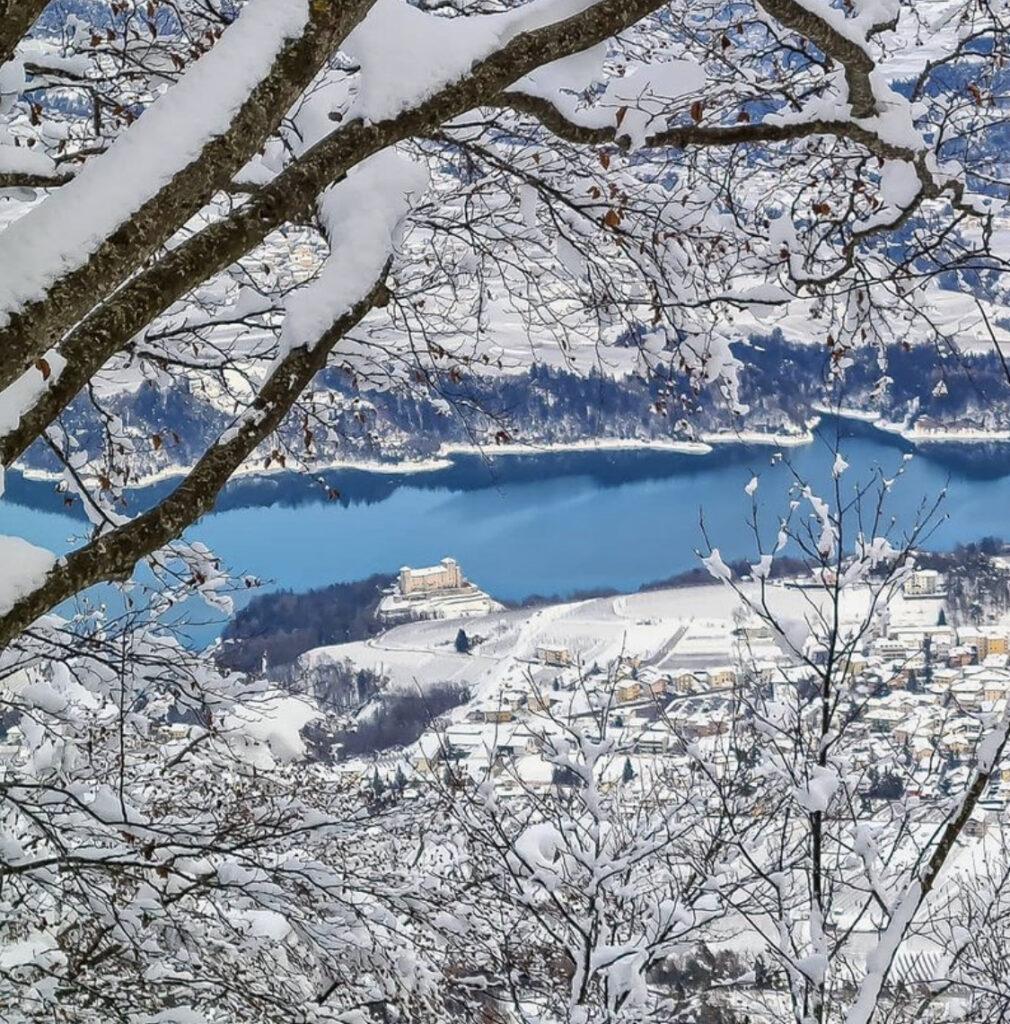 punto panoramico cles-monte peller inverno