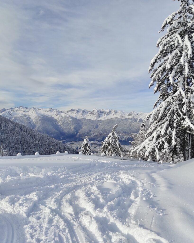 malga rodeza vista inverno