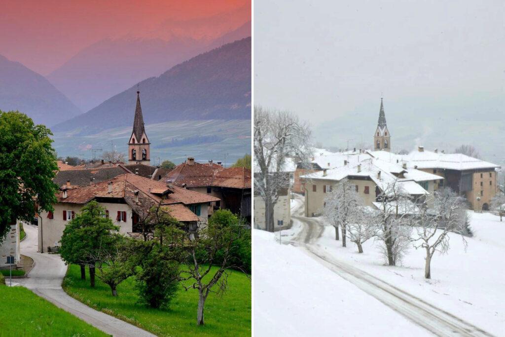 sei confronto paesi val di non estate inverno