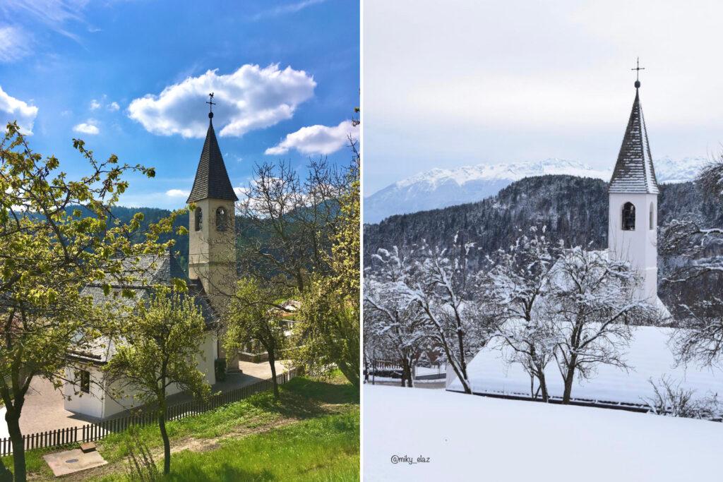 tret-paesi in val di non a confronto estate inverno