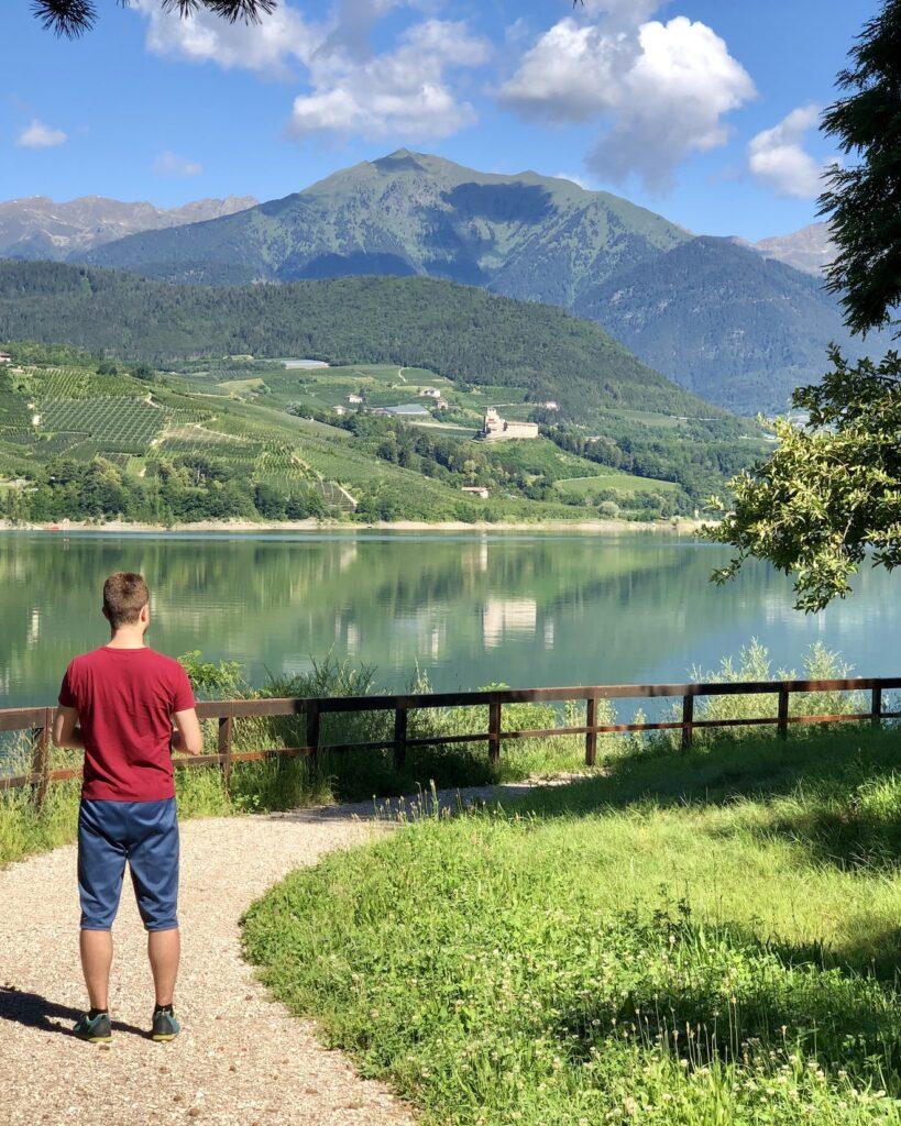 lago di santa giustina e monte pin